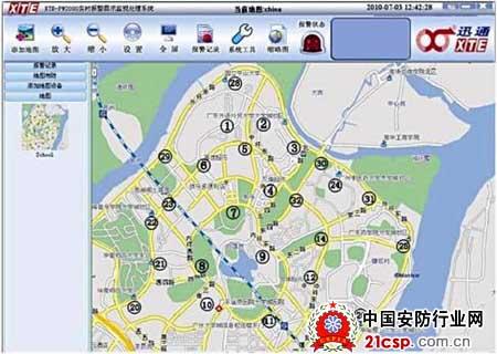 系统的电子地图界面