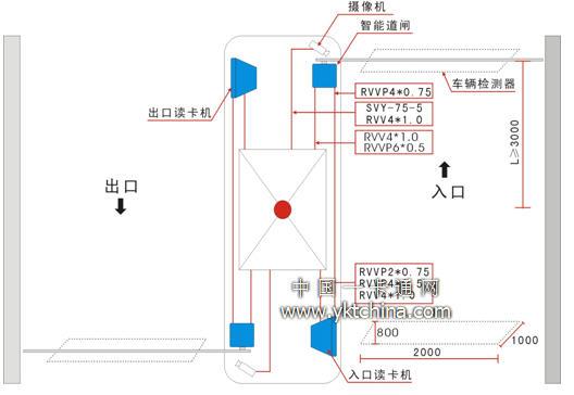 蓝牙蓝牙道闸系统接线图